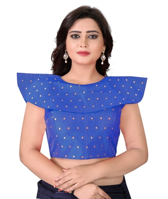 Blue Solid Malbari Blouse