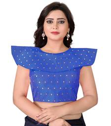Blue Solid Malbari Blouse
