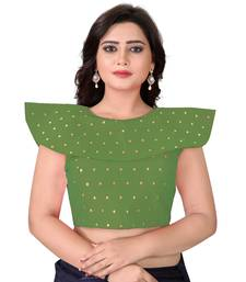 Green Solid Malbari Blouse