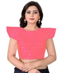 Peach Solid Malbari Blouse