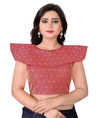 Red Solid Malbari Blouse