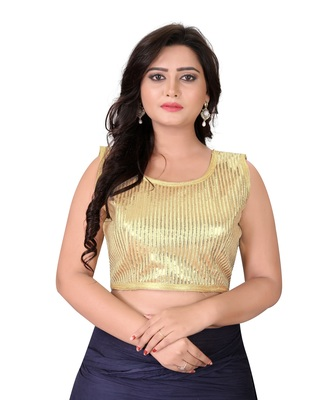 Beige Embriodered Georgette Blouse