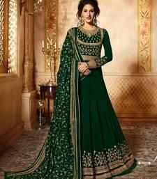 Buy Green thread embroidery faux georgette Anarkali  Suit anarkali-salwar-kameez online