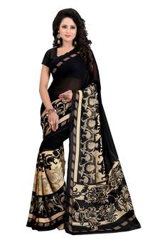 a08604709f Black Sarees - Buy Black Color Saree online @ Best Prices