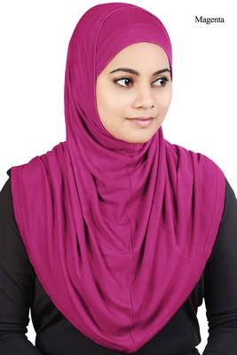 MyBatua Magenta Two Piece Al-Amira Viscose Jersey Hijab