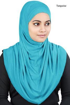 MyBatua Turquoise Two Piece Al-Amira Viscose Jersey Hijab
