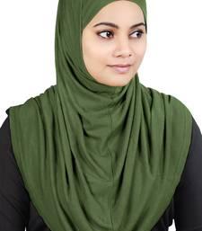 MyBatua green Two Piece Al-Amira Viscose Jersey Hijab