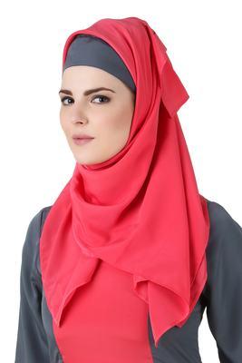 MyBatua Najmah Sweet Pink Crepe Hijab