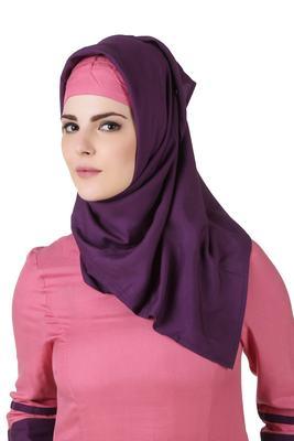 MyBatua Noreen Purple Rayon Hijab