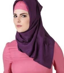 MyBatua Noreen Purple Rayon Hijab