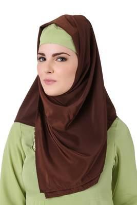 MyBatua Ghusoon Brown Crepe Hijab