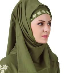 MyBatua Afsa Green Rayon Hijab