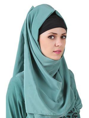 MyBatua Deeba Maternity Sea Green Crepe Hijab
