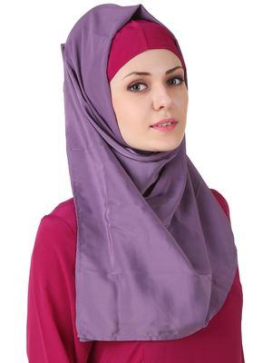 MyBatua Wabisa Crepe Purple Hijab