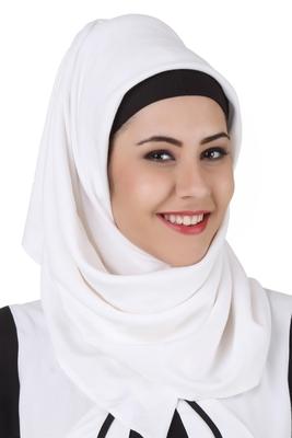 MyBatua Musnah White Rayon Hijab