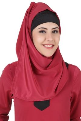 MyBatua Nagheen Rose Pink Crepe Hijab