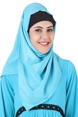 MyBatua Makalah Maternity Turquoise Crepe Hijab