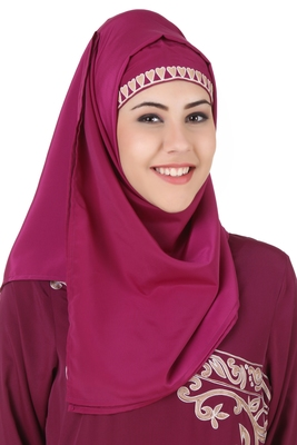 MyBatua Nahida Magenta Crepe Hijab