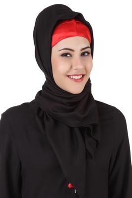 MyBatua Batrisyia Black Rayon Hijab