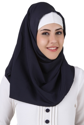 MyBatua Eiman Navy Blue Kashibo Hijab