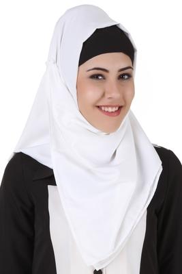MyBatua Naazneen White Kashibo Hijab