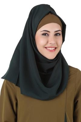 MyBatua Jihan Dark Green Kashibo Hijab