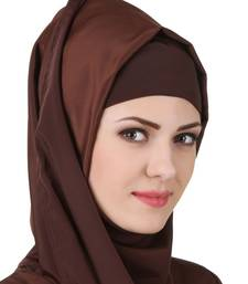 MyBatua Layan Crepe Brown Hijab