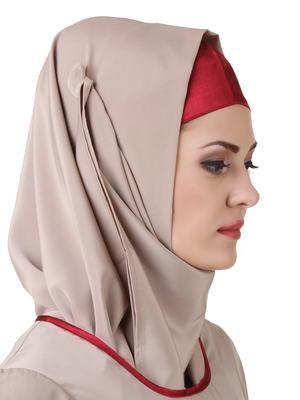 MyBatua Ujala Crepe Warm Grey Hijab