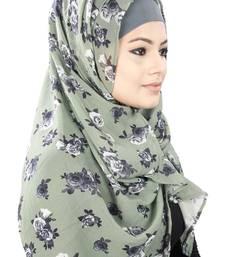 MyBatua Saja Mehendi Floral Print Georgette Hijab
