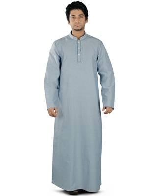 Blue plain cotton galabiyyas