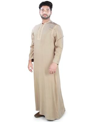 Brown plain rayon galabiyyas