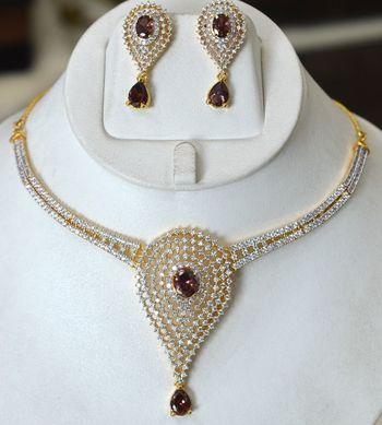 Rhodolite Diamond Set