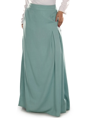 Blue plain rayon islamic skirts