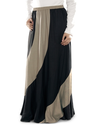 Black plain rayon islamic skirts