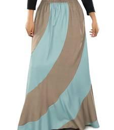 Blue plain rayon islamic skirts
