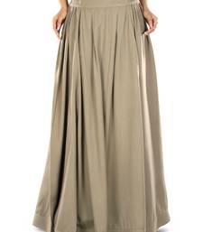Khaki Plain Rayon Islamic Skirts