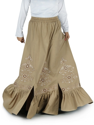 Multicolor Plain Rayon Islamic Skirts