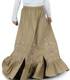 Multicolor Plain Rayon Islamic Skirts