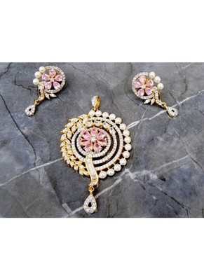 Pink Diamond Pendant Set