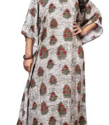 Multicolor Party Wear Printed Kaftan