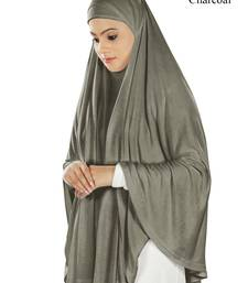 MyBatua charcoal Dua Prayer Khimar - Soft Viscose Jersey