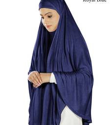 MyBatua royal blue Dua Prayer Khimar - Soft Viscose Jersey