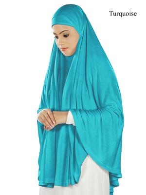 MyBatua Turquoise Dua Prayer Khimar - Soft Viscose Jersey