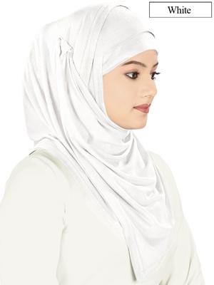 MyBatua white Jersey Hijab and Band