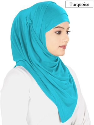 MyBatua Turquoise Jersey Hijab And Band