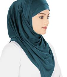 MyBatua teal Jersey Hijab and Band