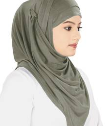 MyBatua charcoal Jersey Hijab and Band