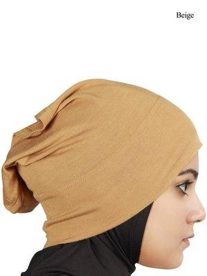 MyBatua beige Viscose Jersey Under Hijab Cap
