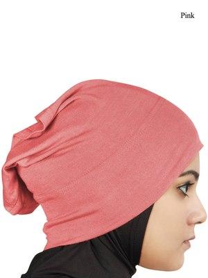 MyBatua pink Viscose Jersey Under Hijab Cap