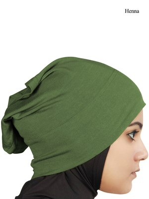 MyBatua henna green Viscose Jersey Under Hijab Cap